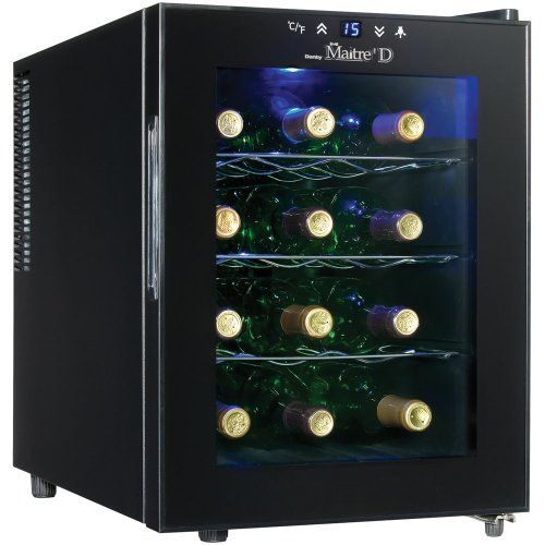 Danby Dwc1233blsc 12 Bottle Wine Cooler Black Read More Reviews Of The Product By Visiting The Link Thermoelectric Wine Cooler Wine Cooler Wine Refrigerator