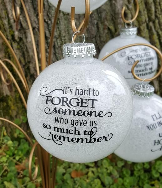 Large Glitter Memorial Ornament | Diy christmas ornaments ...