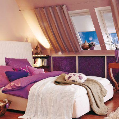vorher nachher eine dachschr ge clever gestalten vorh nge pinterest dachschr ge. Black Bedroom Furniture Sets. Home Design Ideas