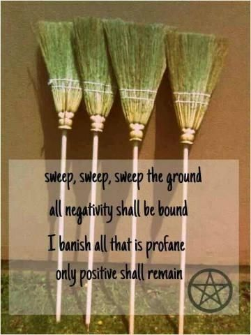 Folklore: Always hang a broom by the front door for