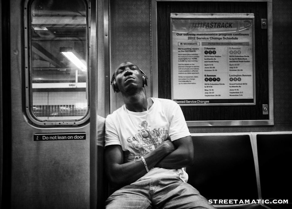 Street View...Zoned out in NYC Subway