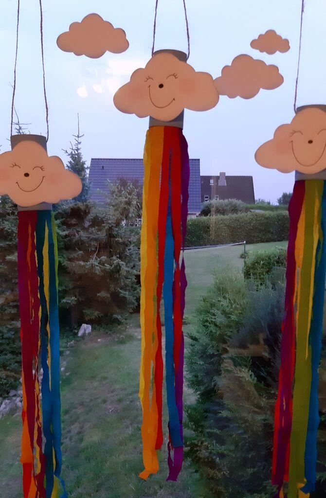 Regenbogen-Windspiel Kreativ-Blog der Buntpapierwelt.de