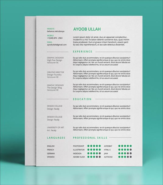 Free Resume Templates  UxUi Designer Template And An