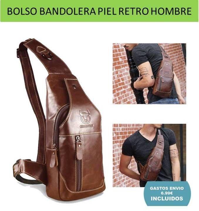 Famosos Bolsos originales diseño vintage y bandoleras de moda para hombres  KO97