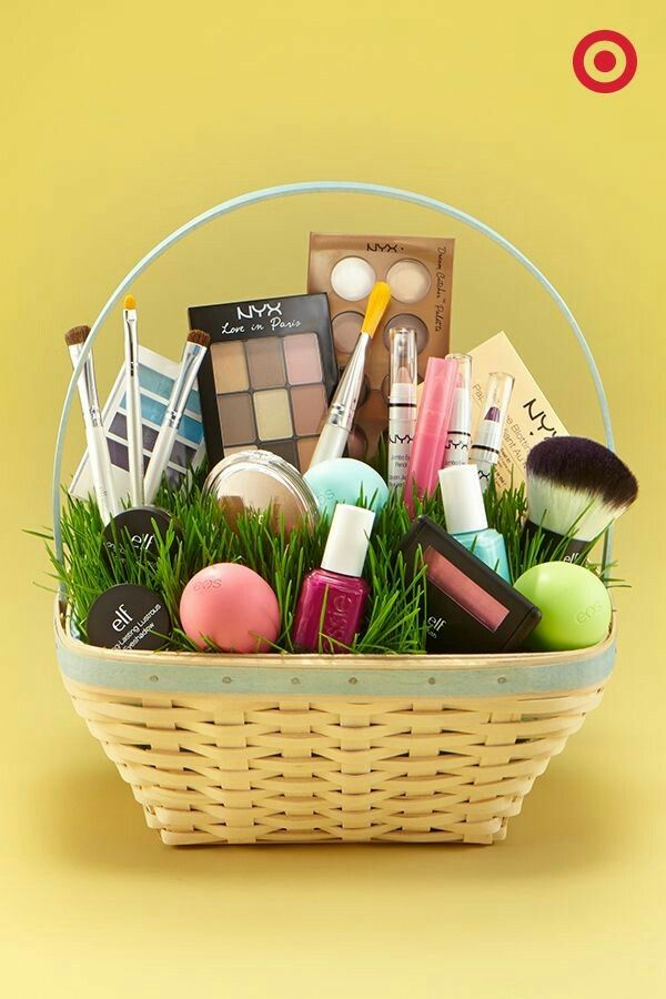 Canasta con maquillaje diy pinterest easter gift and canasta con maquillaje easter basket negle Image collections