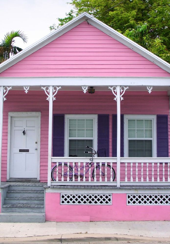 Playful Colors Key West, Or Conch, Cottages Feature Fanciful Elements Like  Slim Columns Topped With Decorative Wooden Details. Tropical And Playful  Hues ...