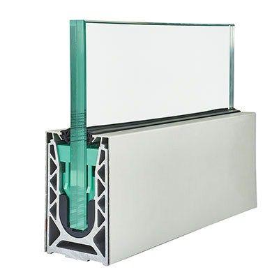 barrier sabco side fix balustrade rail kit 2500mm natural aluminium glass kit at. Black Bedroom Furniture Sets. Home Design Ideas