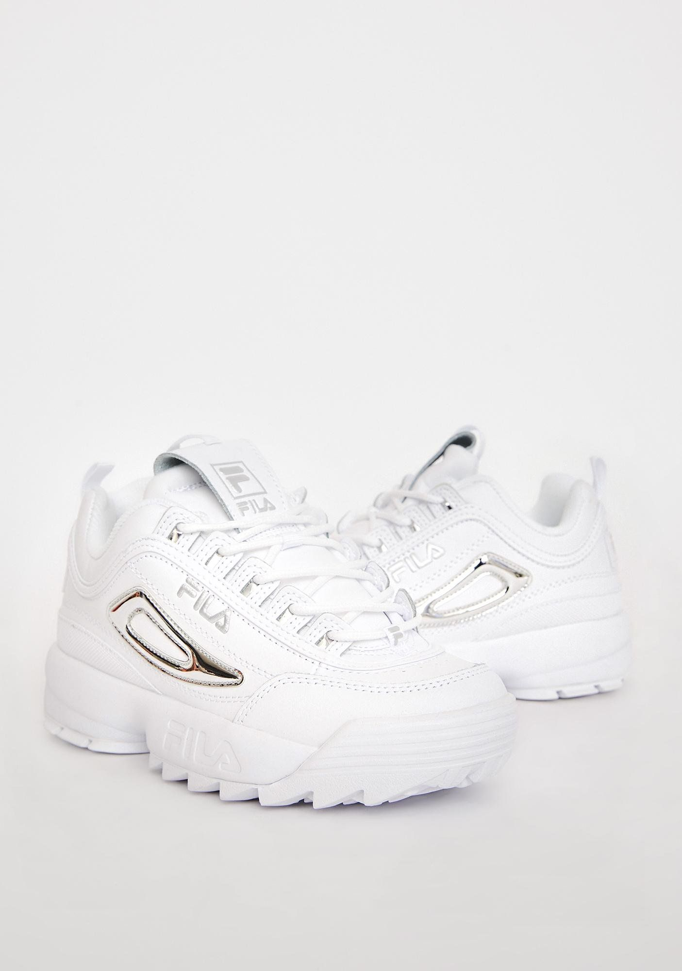 Silver Disruptor 2 Metallic Accent Sneakers | Sneakers