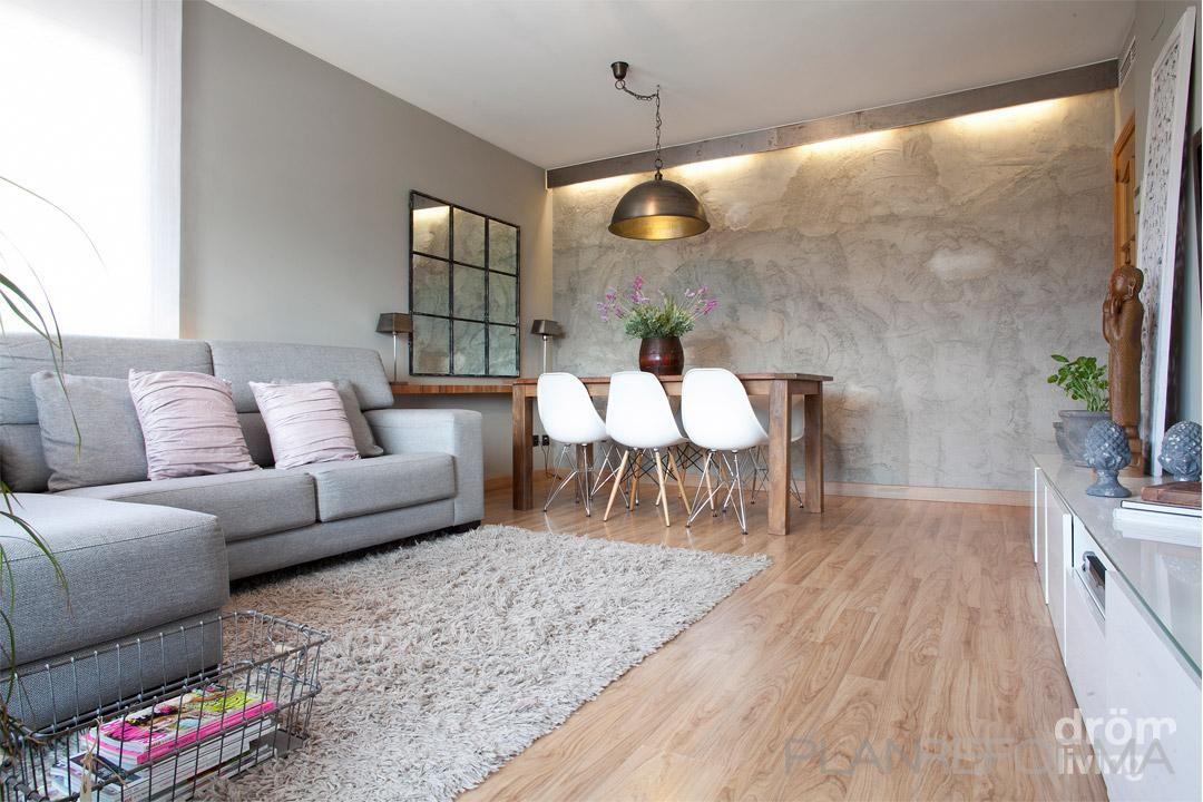 comedor salon estilo clasico color rosa marron blanco gris diseado por drm