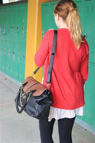 Oversized Black and Brown Nine West Shoulder Bag $48.97