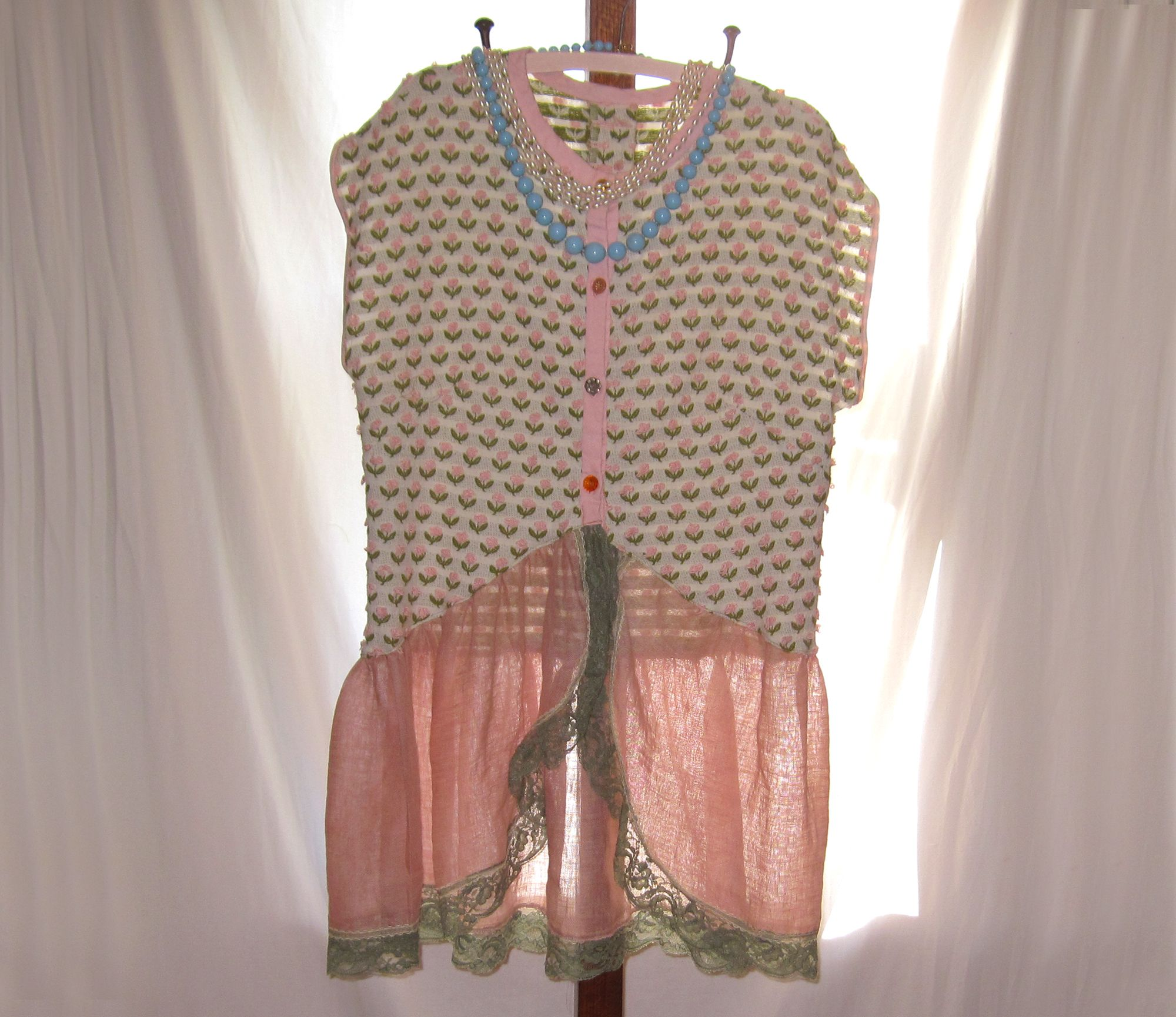 Unique, one of a kind womens tunic blouse, upcycling ...