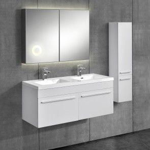 neu.haus] Set mobile da bagno 3-pezzi con lavabo e specchio 613,10 ...