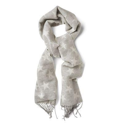 Womens Étoiles Hiver Écharpe En Laine D'agneau, Gris (gris Chiné Clair), Une Taille Gant