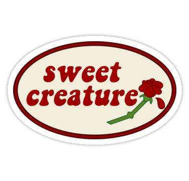 Sweet Creature Rose Design Sticker By Livstuff Adesivos Sticker