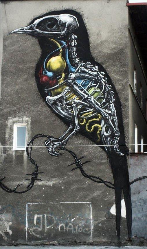 Graffiti Artists Urban Art Street Art Murals ROA Graffiti - Amazing graffiti alters perspective space