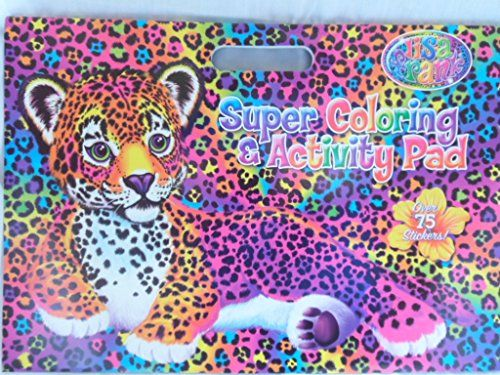 Lisa Frank Super Coloring And Activity Pad With Colorful Fun Stickers Cross Paintings Art Craft Store