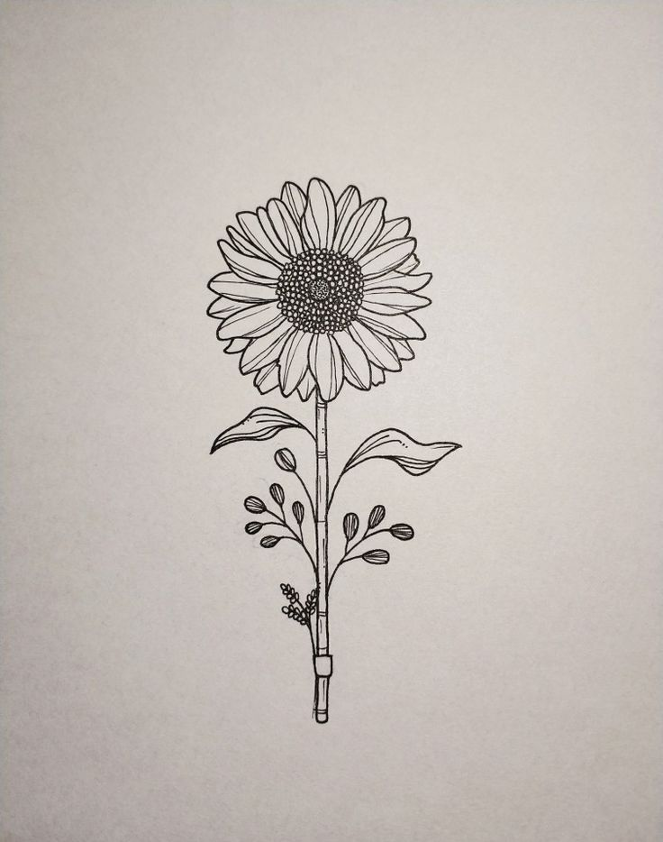 Photo of I have a sunflower tattoo on my arm. Mine has four flowers on my hand …