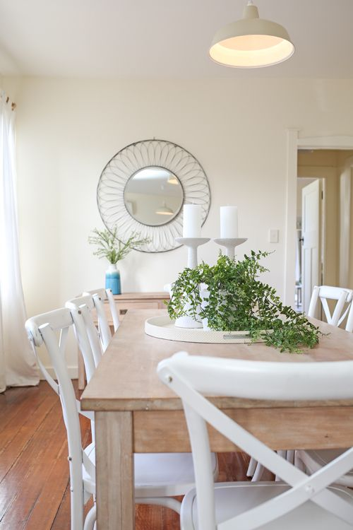 Shabby chic, coastal, beach style, Hamptons, dining room ...