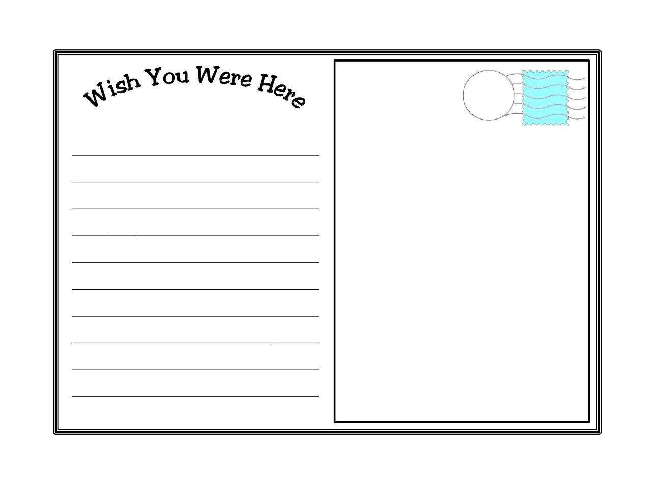 010 Template Ideas Free Printable Postcard Runticino Pertaining To Free Blank Postcard Template Fo Postcard Template Printable Postcards Postcard Template Free