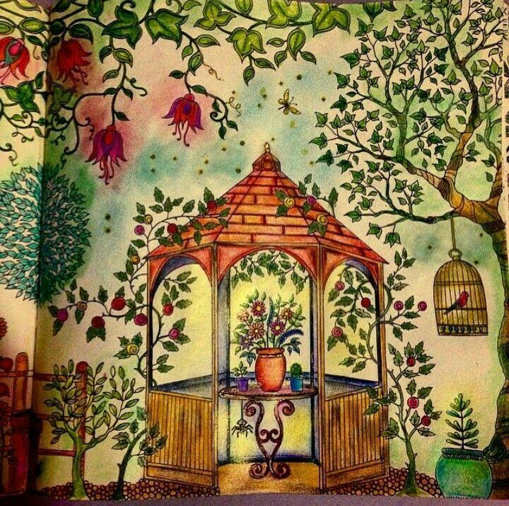 Jardim Secreto Gazebo Johanna Basford GazeboEmbroidery PatternsSecret GardensColoring BooksAdult