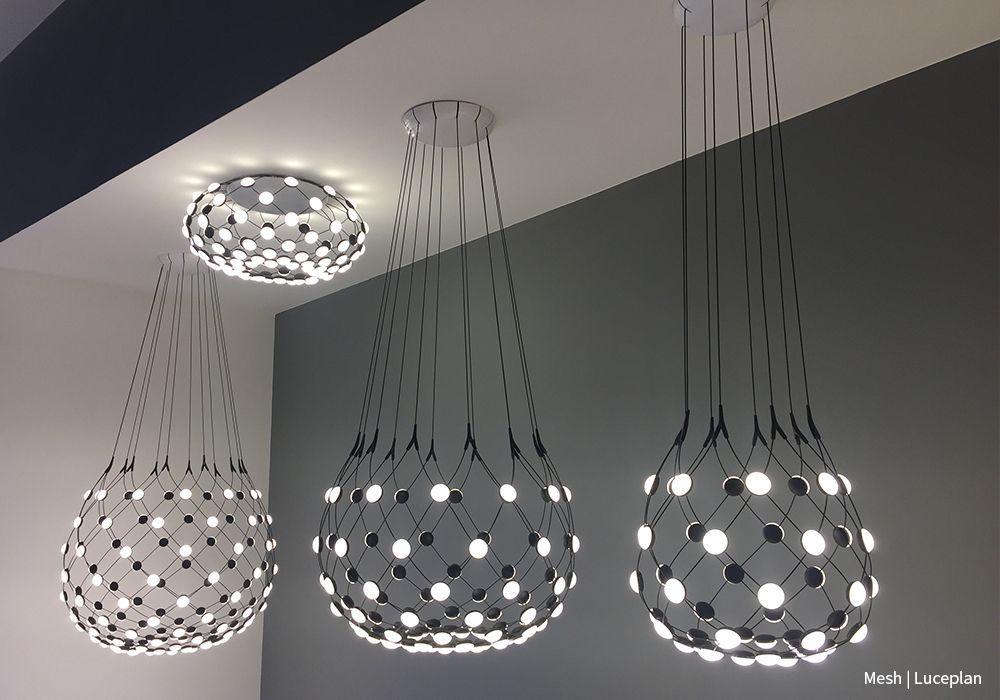 hanglampen mesh van luceplan euroluce 2017 milaan salonedelmobile design verlichting