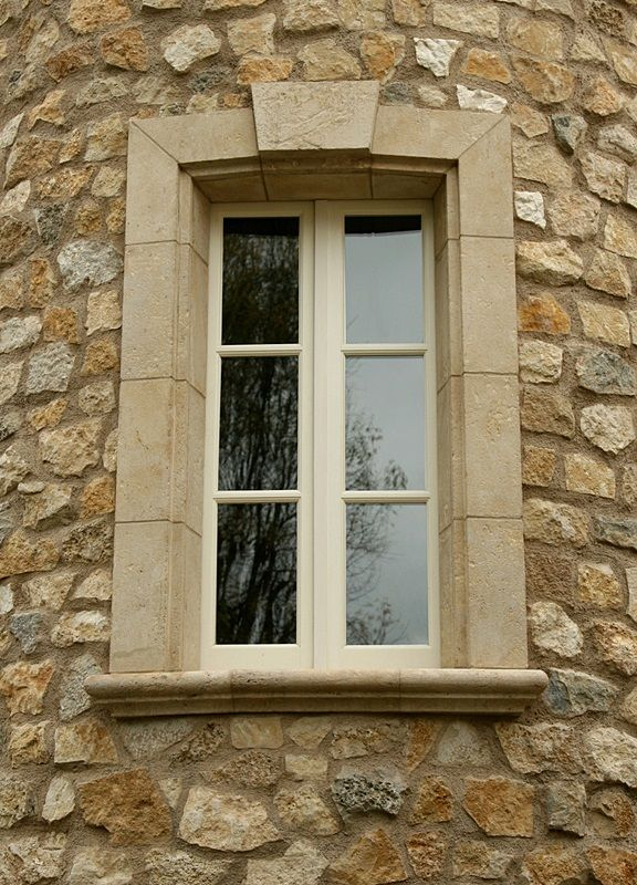 Stone Window Surround For Chateau Chic Via Exquisite Surfaces Exterior Design French Oak Flooring Antique Limestone
