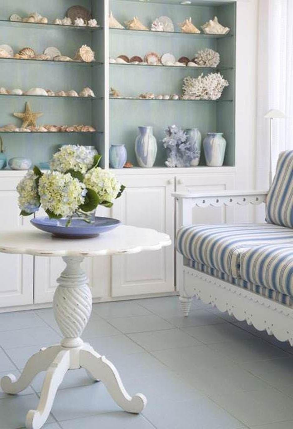 Fresh and airy beach themed living room ideas