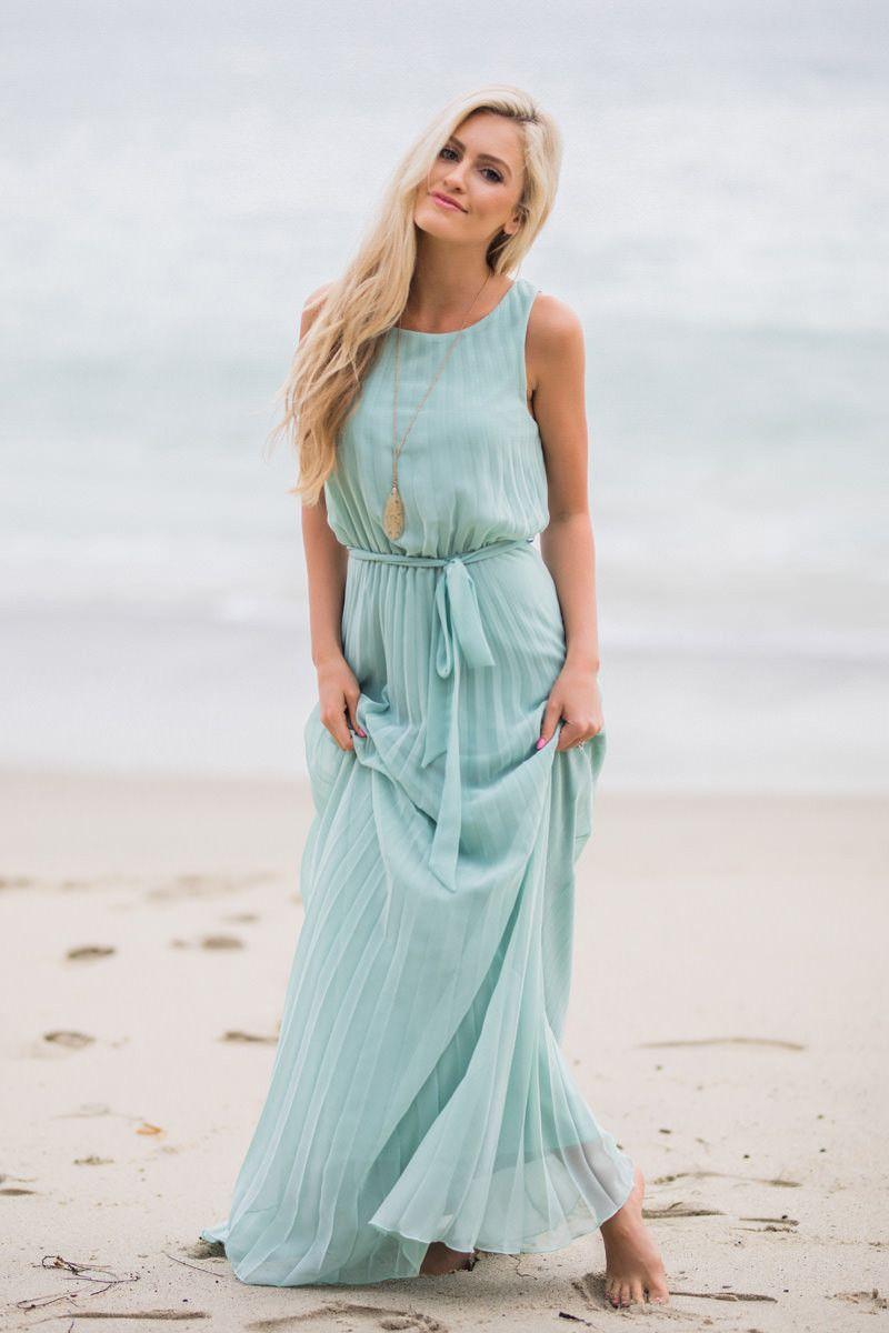 Alina Mint Pleated Maxi Dress | Pleated maxi, Maxi dresses and Coats