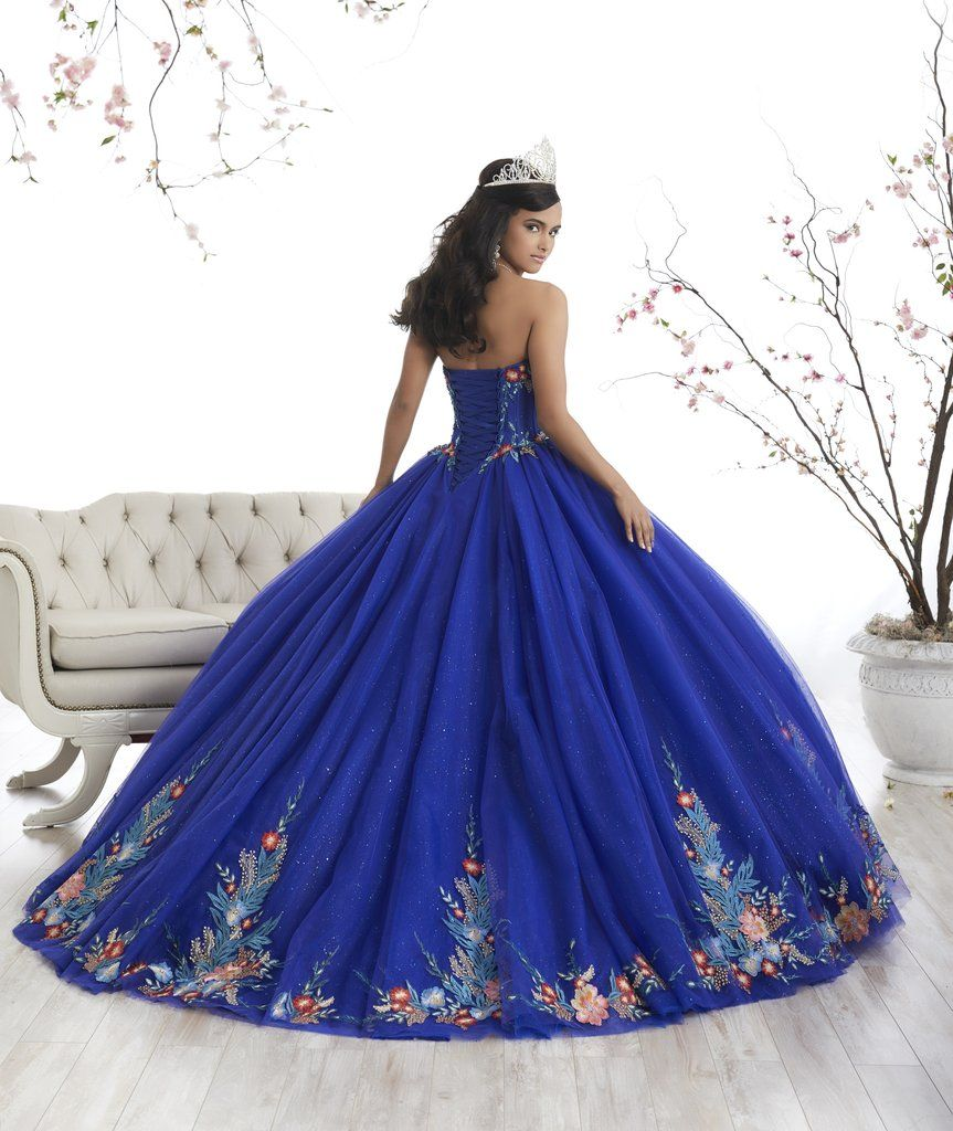 92dcafd70bc Floral Appliqued A-line Quinceanera Dress by House of Wu 26869-House of  Wu-ABC Fashion