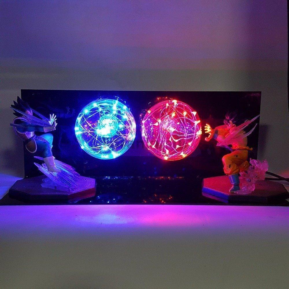 Lampe Dbz Goku Vs Vegeta Rouge Bleu 01001001 10000000011001