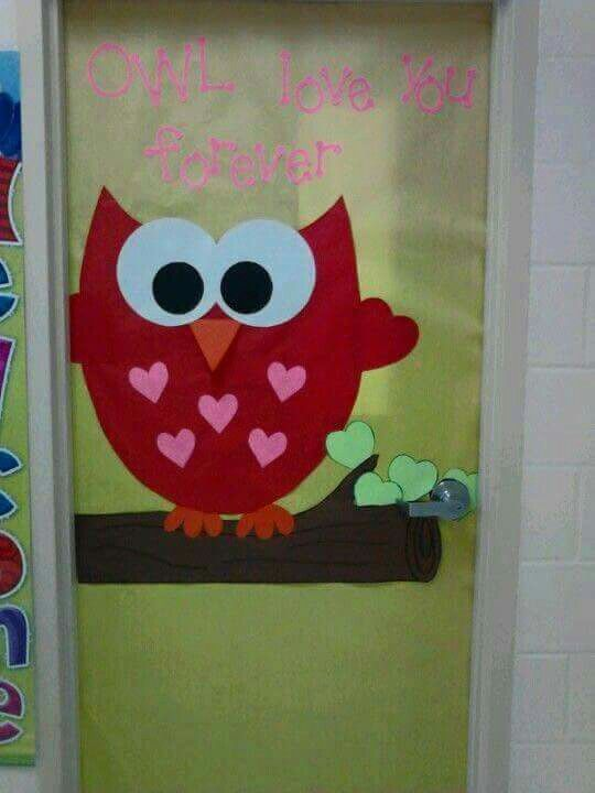 Buho puerta decoraci n de sal n pinterest for Decoracion de puertas escolares