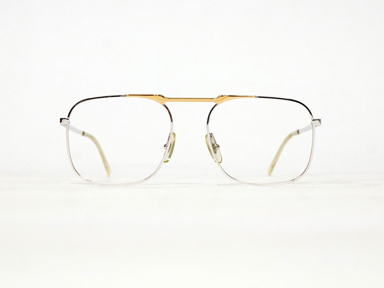 Christian Dior Monsieur Vintage Eyeglass Frame model 2105 , aviator, metal frame, 80s eyewear, unworn deadstock condition