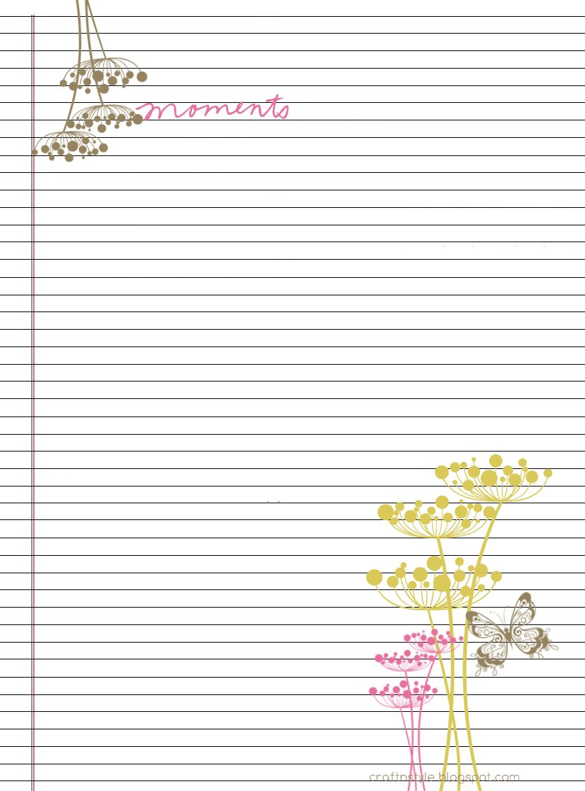 College Ruled Paper Template College Ruled Stationery  Free And Printable.  Free Printable Lined Writing Paper