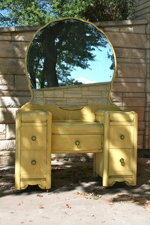 Antique Shabby Chic Makeup Vanity Or Desk By PineCrestCreations 32500 I Have This Maybe Will Paint It