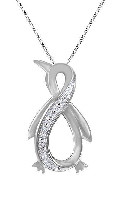 Artistry Diamonds Diamond Guitar Necklace 1/4 ct tw Black/White Sterling Silver 1DXjt7rV