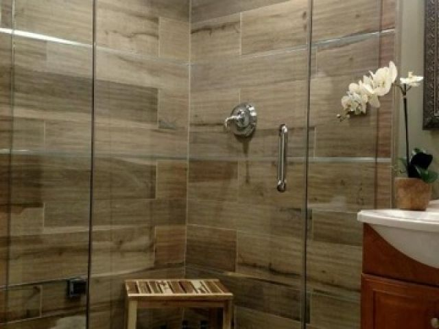 - Wood Look Tile Shower - ABK Soleras Avana For Wes Pinterest