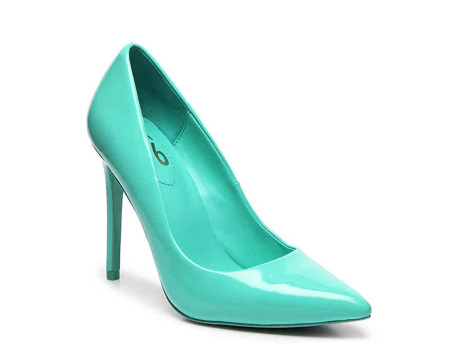 759d55c08d Mix No. 6 Dignity Pump in Turquoise Patent Faux Leather - Size 8W ...