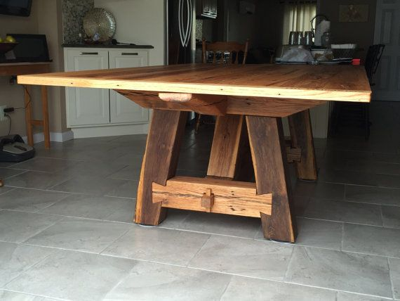Reclaimed Handmade Red Oak Farmhouse Dining By OldMadeNewDesignsCo