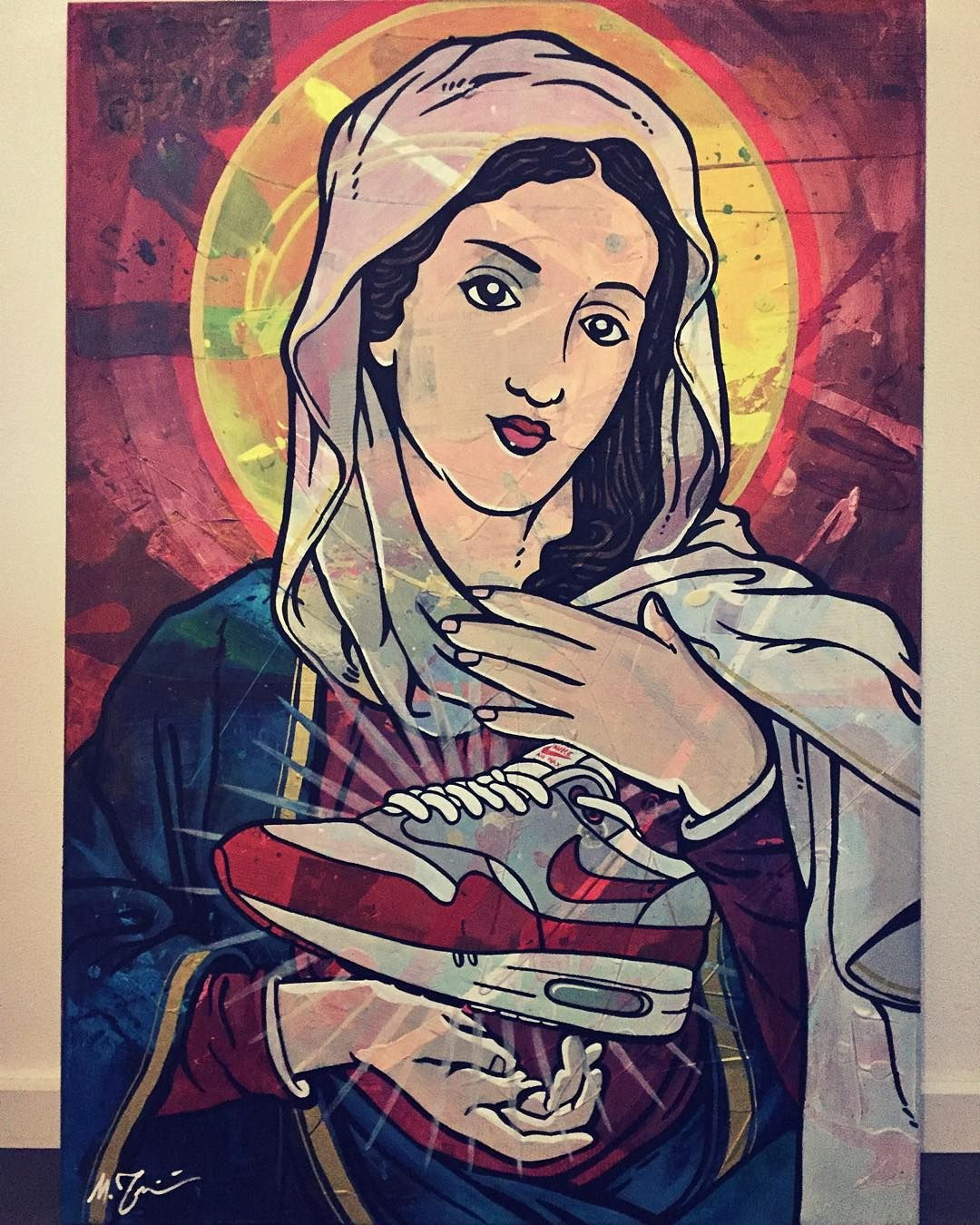 There she is Mary's holy grail. Acrylic paint on canvas 70 X 100 cm. #painting…