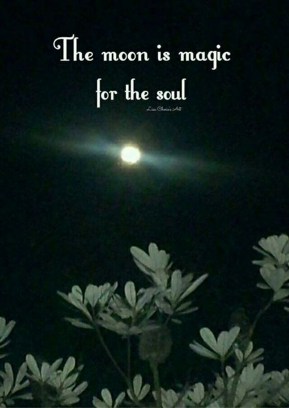 The moon is magic for the soul