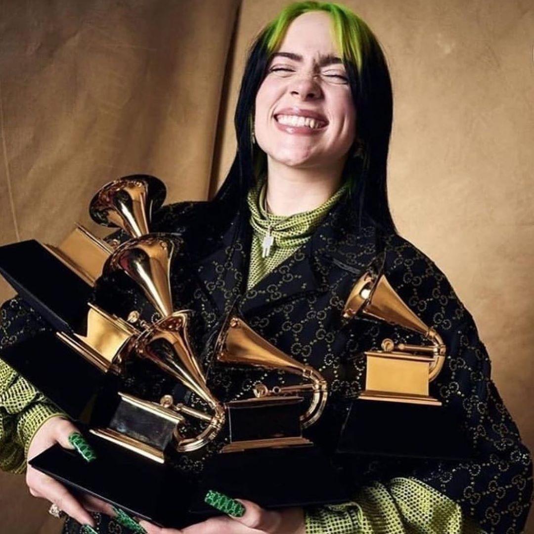 Look At Herrrrr In 2020 Billie Billie Eilish Grammy