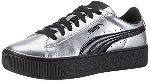 Puma Vikky Platform Metallic, Zapatillas para Mujer, Gris (Puma Silver-Puma Black 02), 40 EU
