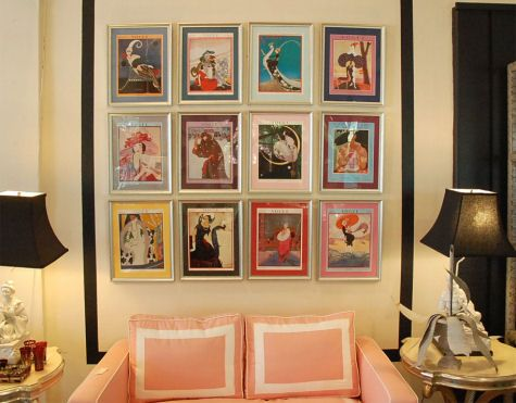 framed magazine covers via the pursuit of style blog - Vogue Decor Magazine