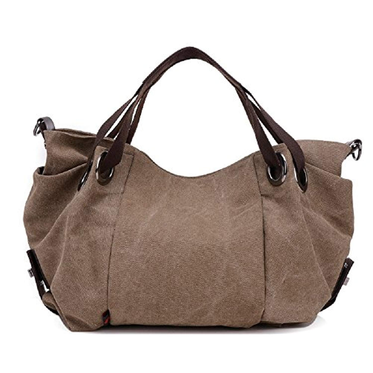 4d625494b3651 Fashion Women's Multi-pocket Cotton Canvas Handbags Shoulder Bags Totes  Purses -- Want to know more, click on the image. (This is an affiliate  link) # ...