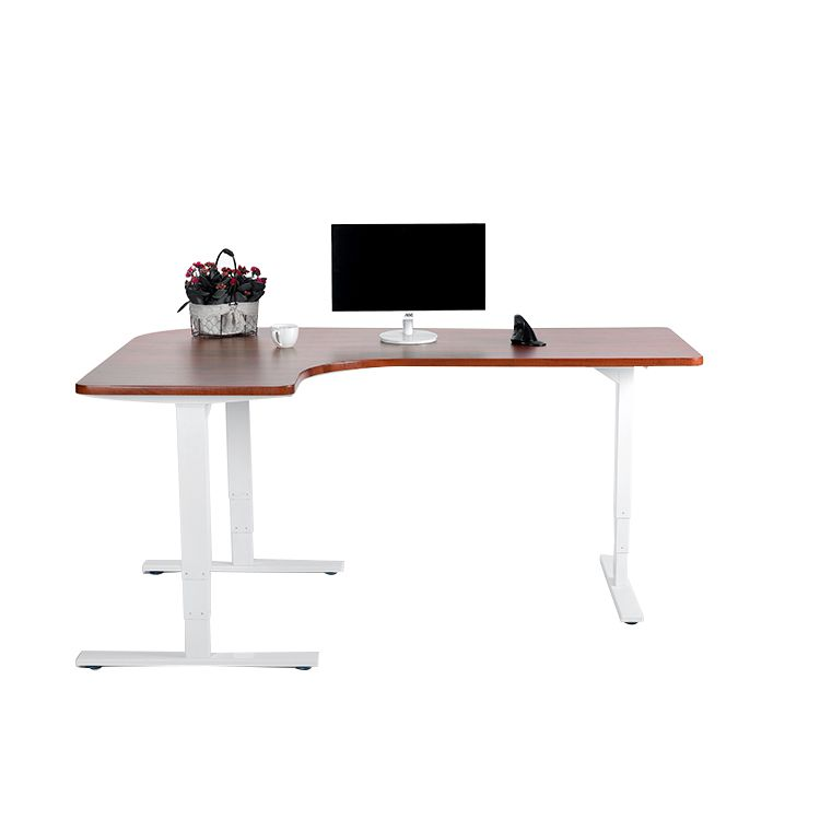 Modern Homeoffice Computer Desk: Vansdesk Automatic L Shape Computer Table Workstation