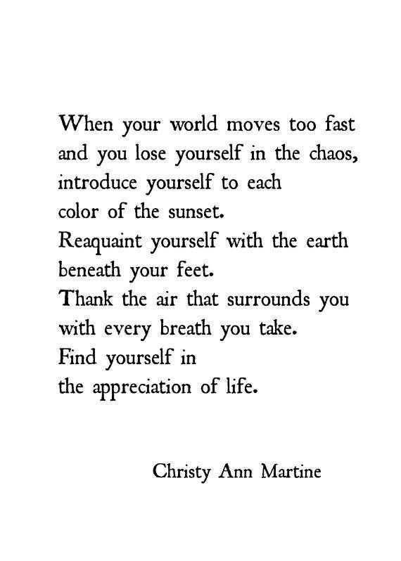 Nature Gifts Art Print Meditation Yoga Mindfulness Quotes Nature Poetry Self-Awareness Print