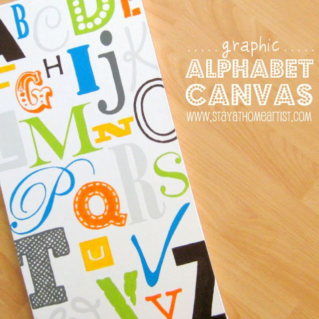 stayathomeartist.com: graphic alphabet canvas... | DIY wall art ...