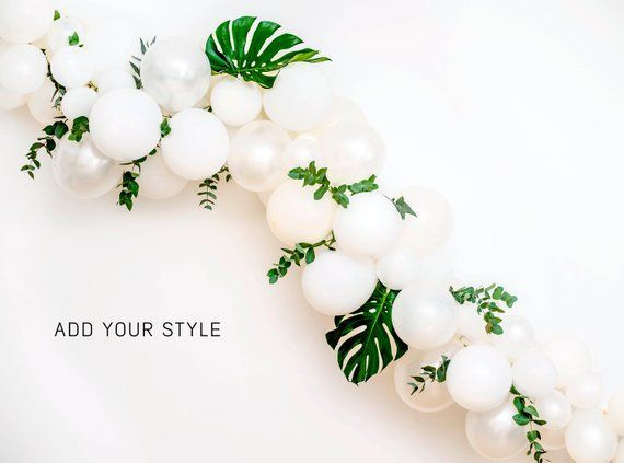 Dream White Garland Arch DIY Balloon Pack 120pc Mix of 12 10 5 inch Balloons  Tools Weddin Dream White Garland Arch DIY Balloon Pack 120pc Mix of 12 10 5 inch Balloons  T...