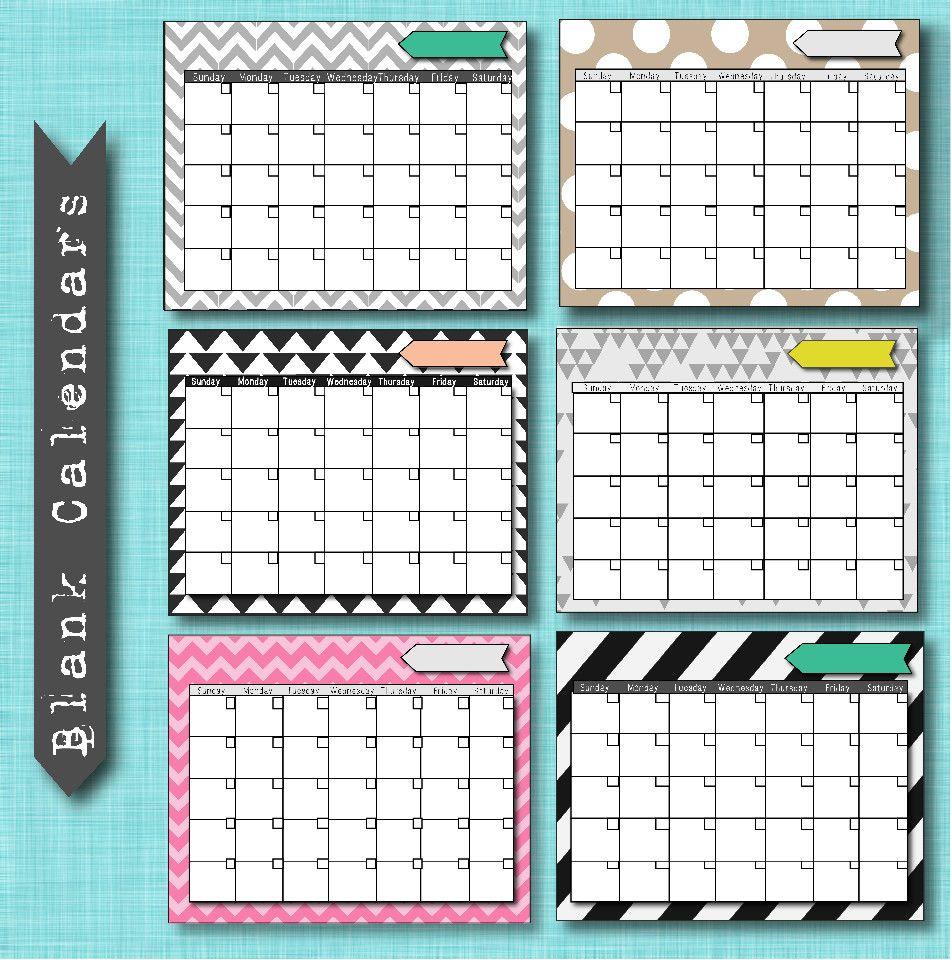 free calendar printouts