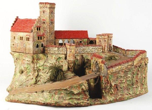 Papercraft Sleeping Beauty´s Castle Paper Model illuminated ...   435x600